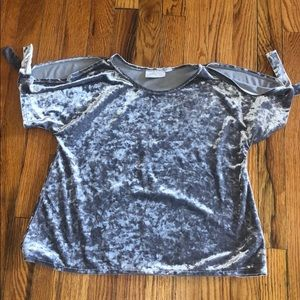 Children's Place gray silky shirt